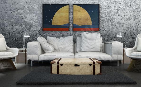 Poster Mars-Landschaft