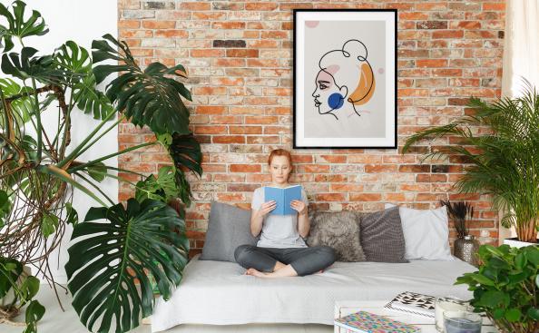 Poster Minimalismus fürs Wohnzimmer