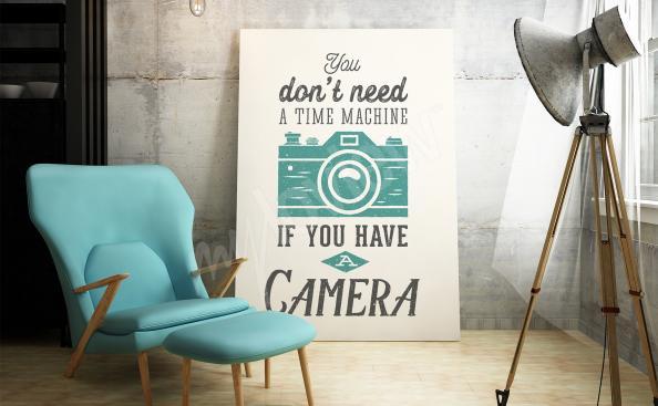Poster mit Beschriftung