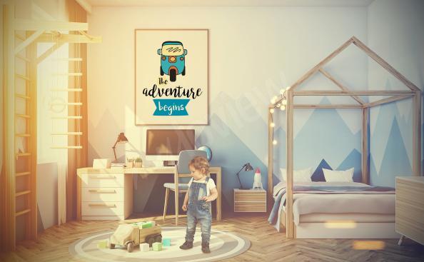 Poster mit einem Fahrzeug fürs Kinderzimmer