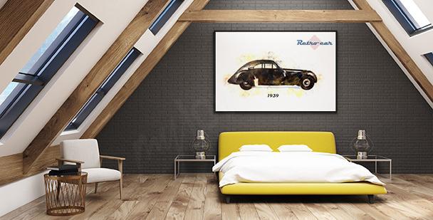Poster mit einem historischen Auto