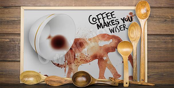 Poster mit einem Kaffee malen