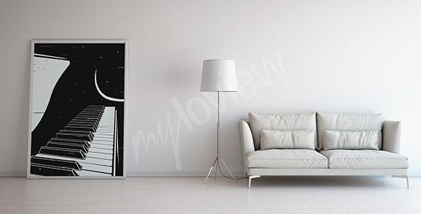 Poster mit einem Klavier