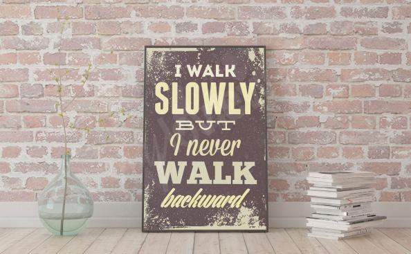 Poster mit einem Motivationsspruch