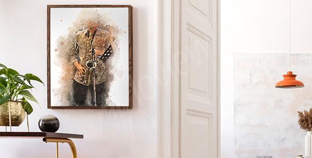 Poster mit einem Saxophonisten