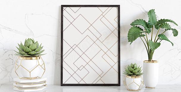 Poster mit geometrischem Muster