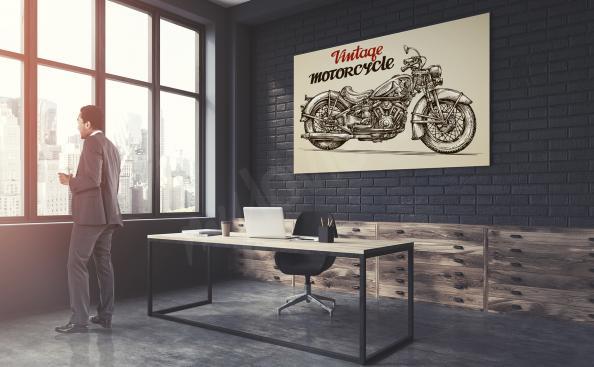 Poster mit Motorrad Vintage