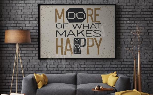 Poster mit Spruch für Wohnzimmer