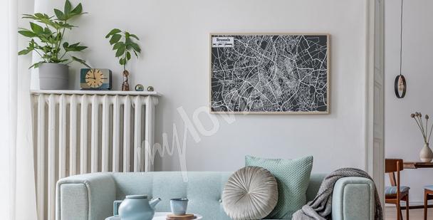 Poster mit Stadtplan