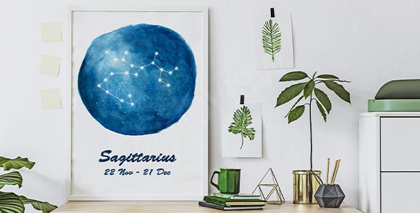 Poster mit Sternzeichen