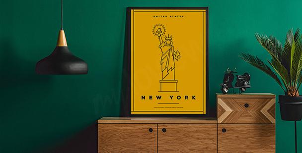 Poster mit Symbol von New York City