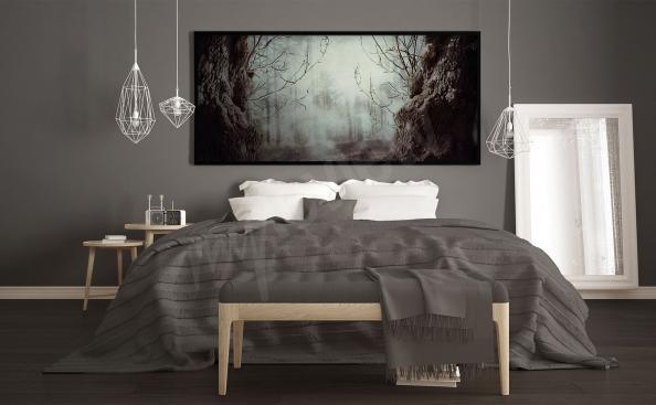 Poster mit Wald für Schlafzimmer