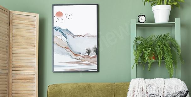 Poster moderne Landschaft