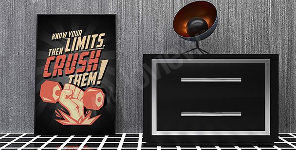Poster motivierender Spruch