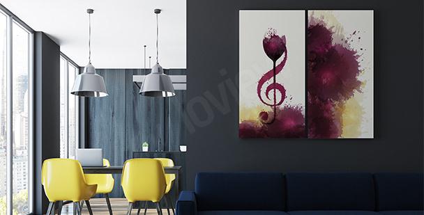 Poster Musik und Wein