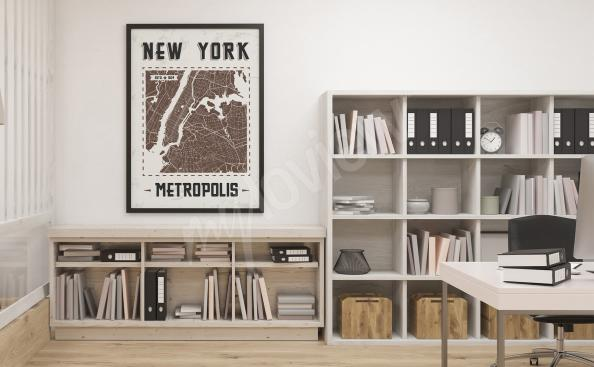 Poster New York Stadtplan