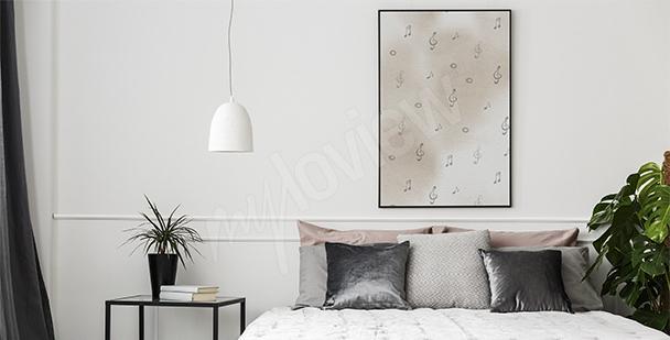 Poster Noten fürs Schlafzimmer