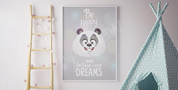 Poster Panda für Kinder