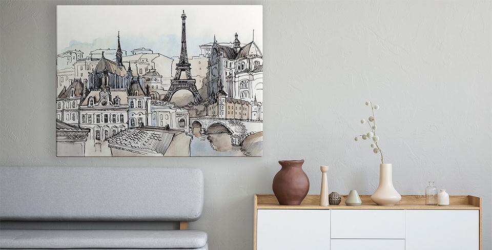 Poster Panorama von Paris