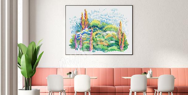 Poster Park Aquarell