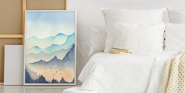 Poster Pastell-Landschaft