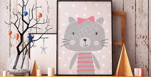 Poster pastellfarbener Teddybär