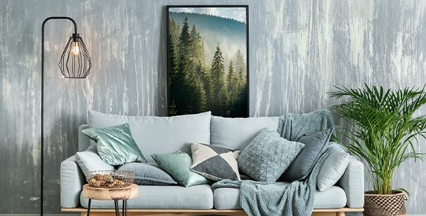 Poster Wald fürs Schlafzimmer