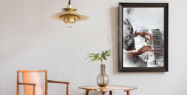 Poster Pianisten fürs Wohnzimmer