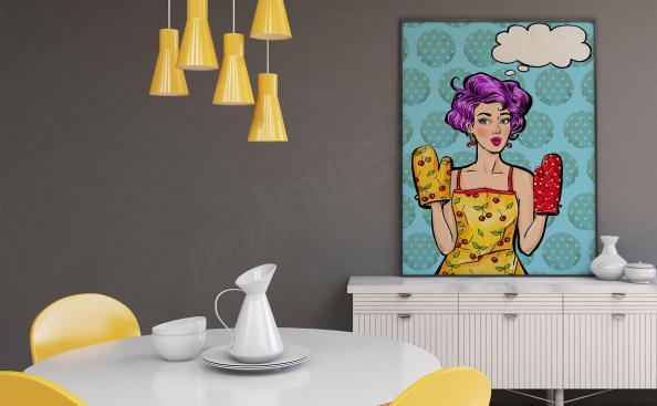 Poster Pop-Art Stil für die Küche