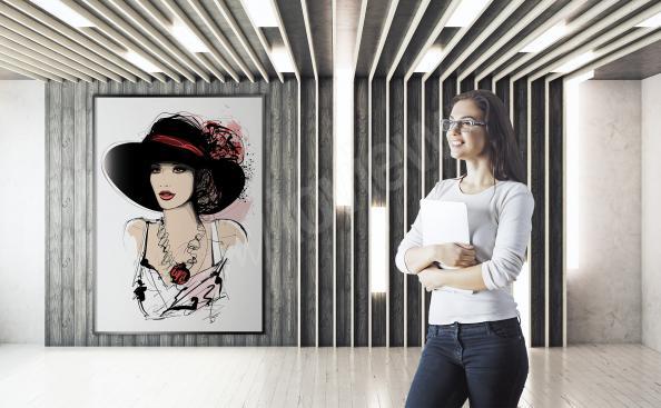 Poster Porträt einer Dame
