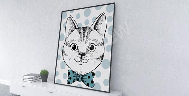 Poster Porträt einer Katze