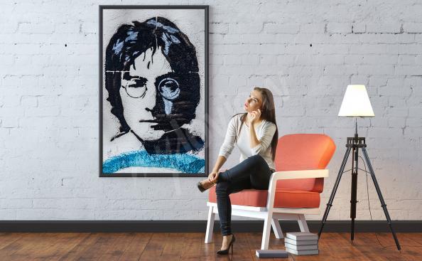 Poster Porträt von John Lennon