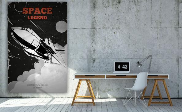 Poster Raumschiff Vintage