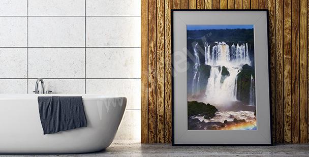 Poster riesiger Wasserfall