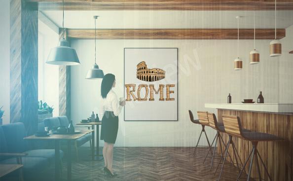 Poster Rom für ein Restaurant