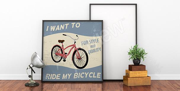 Poster rotes Fahrrad