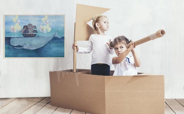 Poster Schiff fürs Kinderzimmer