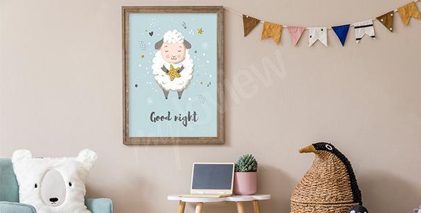 Poster schlafendes Schaf