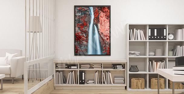 Poster Schlucht mit einem Wasserfall