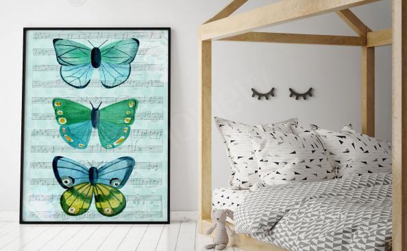Poster Schmetterlinge für Kinder
