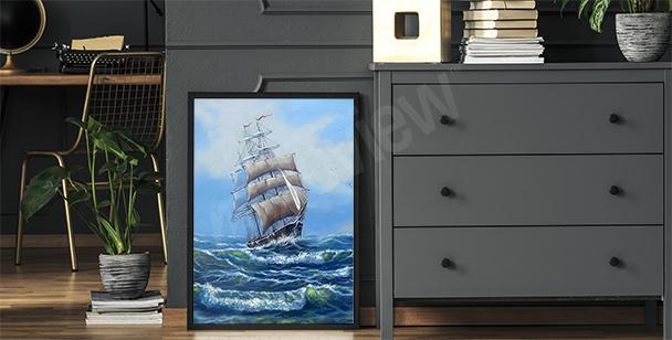 Poster Seeschifffahrt