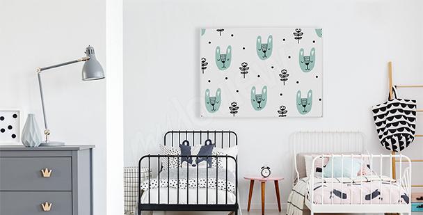 Poster skandinavischer Stil für Kinder