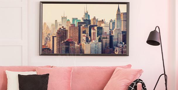 Poster Stadt aus der Vogelperspektive