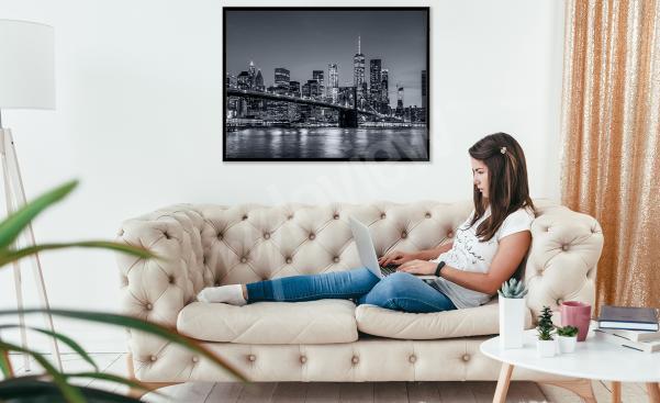 Poster Stadt fürs Wohnzimmer