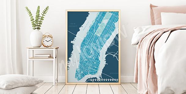 Poster Stadtplan von Upper Manhattan