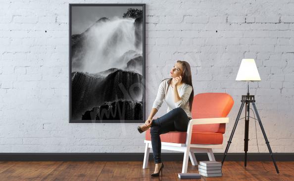 Poster Stürmischer Wasserfall