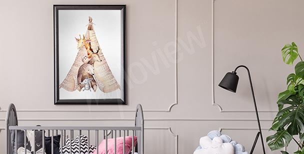 Poster Tiere fürs Kinderzimmer