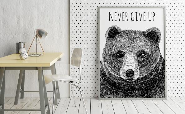 Poster Tiere schwarz-weiß