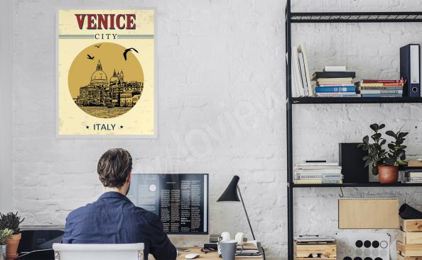 Poster Venedig für das Büro