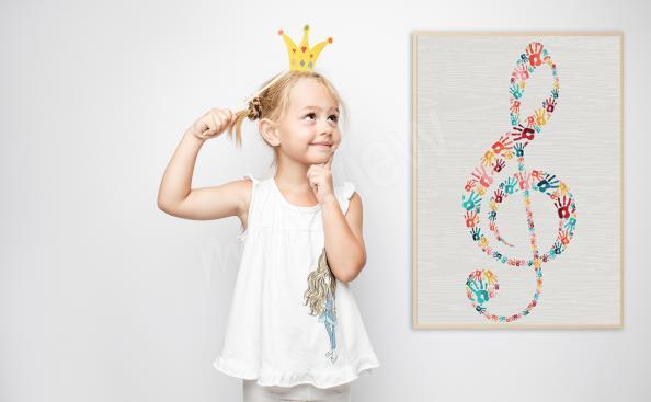 Poster Violinschlüssel für Kinderzimmer